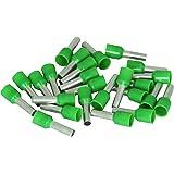 Kopp 354413093 ändhylsor med plastkrage, 25 stycken, 6 mm², grön