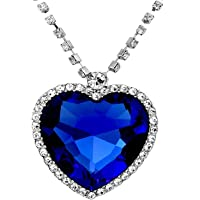 Valentine Gifts for Girlfriend/Wife : YouBella Jewellery Crystal Heart Titanic Necklace for Girls Fashion Pendant…