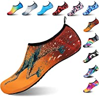 Water Shoes Kids Beach Shoes Aqua Shoes Mens Womens Beach Surf Diving Swim Barefoot Shoes Quick Drying Lightweight Durable Rubber Sole
