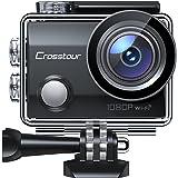 Crosstour Action Cam CT7000, WiFi Full HD da 14MP, Videocamera Subacquea Impermeabile 30M, Anti-Shake Stabilizzazione Schermo