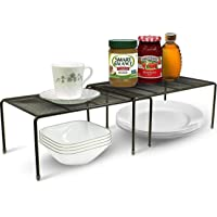 Callas Stackable Kitchen Cabinet and Counter Shelf Organizer,Black, CA91AB