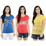 Modeve Women's T-Shirt (Pack of 3)