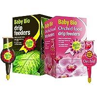 2 x Baby Bio® Drip Original & Orchid Feeders 4 x 40ml Liquid Plant Food Packs - Easy Feeding for Plants - 1 drip feeder lasts up to 1 month (2 Boxes = 8 Individual Drip Feeders)