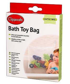 clippasafe bath toy bag   white clippasafe bath toy bag   white  amazon co uk  baby  rh   amazon co uk