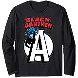 Marvel Avengers Black Panther Chest Logo Manche Longue
