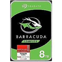 Seagate Barracuda, interne Festplatte 8 TB HDD, 3.5 Zoll, 5400 U/Min, 256 MB Cache, SATA 6 Gb/s, silber, FFP, Modellnr…