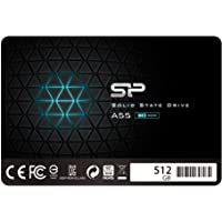 """Silicon Power SSD 512GB 3D NAND A55 SLC Cache Performance Boost 2,5 Zoll SATA III 7mm (0,28"""") Interne SSD"""