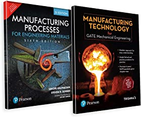 GATE Mechanical Engineering Preparation Combo: Manufacturing Technology for GATE & Manufacturing Process for Engineering Materials Textbook