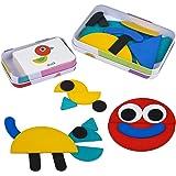 Puzzle Juguetes Montessori para Niños 3 Años Infantiles con Rompecabezas de 36 Piezas+Tarjetas de 60 Piezas Juegos Educativos