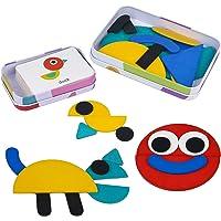 Puzzle en Bois Jouets Casse-tête avec 36 Pièces de Forme 60 Cartes Jouets Montessori Jouets éducatifs Cadeau pour Fille…