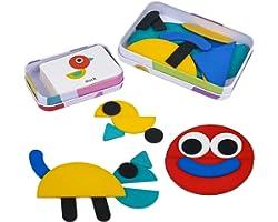 Puzzle Giochi in Legno per Bambini 2 in 1 Montessori Giocattoli Bimba Regalo Bambina Giochi Educativi 3 4 5 6 Anni (36 Pezzi
