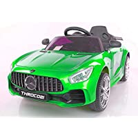 Toy House Toyhouse Futuristic Benzy AMG Rechargeable Battery Operated Ride-On Car for Kids ( 2 to 5YRS ), Painted Green