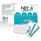 Netoa ®️ lingettes nettoyantes 160 pièces pour tous types de verres, lunettes de vues, solaires, jumelles, smartphone, tablet
