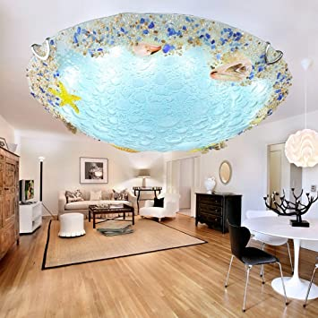 NAUY  Shell Mittelmeer Deckenleuchten Esszimmer Schlafzimmer Balkon Flur  Kinderzimmer Kreative LED Lampen ( Größe