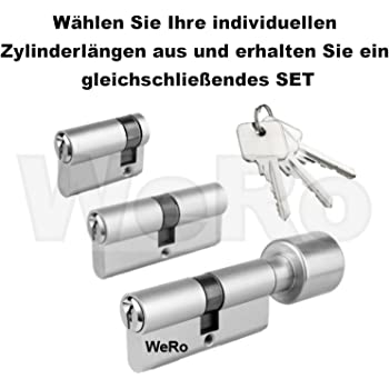 ToniTec® CodeCard Abus Profilhalbzylinder N C83 Halbzylinder inkl 3 Schlüssel