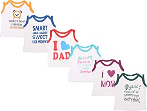 Baby Fly New Born Baby Boy Tshirts/Baby Girl Tshirts (0-6 Months) (Pack of 6)