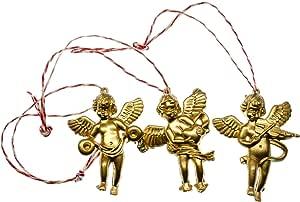 Angel Earrings Miniblings Christmas Gold Angel Golden Cherubs Cherub