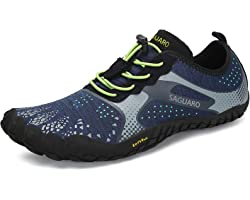 SAGUARO Unisex Minimalist Trail Running Barefoot Shoes Wide Toe Box - Indoor & Outdoor