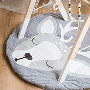 Round Play Pad Crawling Mat Kids Play Mat Nursery Rug Cotton Round YWG058-CS