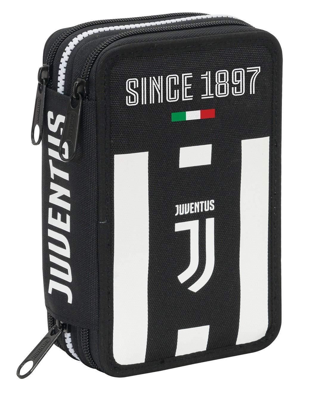 Seven AST.3 Zip Juventus Coaches Estuches 20 Centimeters 0.5 Negro (Bianco e Nero)