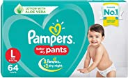 Pampers New Diaper Pants, Large, 64 Count
