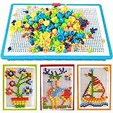 Jeu De Construction Mosaïque Puzzle Enfant Jouet Educatif Créatif Jouet Assemblage 296Pcs pour Garçons et filles plus de 3 an