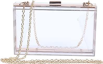 Lanpet Damen Acryl Transparent Abend-Clutches Schultertasche Cross-Body Geldbörse Party Tasche