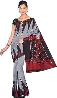 ODISHA HANDLOOM Women's Cotton Saree (Grey)