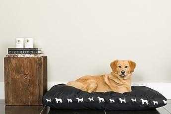 SmileForPets Hundekissen große Hunde Puck Schwarz für Grosse Hunde XL 120 x 80 x 15cm Hundekissen XXL für mittelgrosse bis Grosse Hunde. Sehr stark und hundebett XXL Waschbar