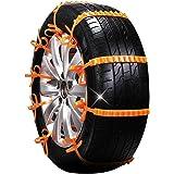 Zeagro 10 Stück Anti Rutsch Ketten Für Autos Schnee Schlamm Rad Reifen Auto Lkw Reifen Kabelbinder Küche Haushalt