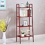 House of Quirk Ladder Shelf 4-Tier Bookshelf Plant Flower Stand Storage Rack Organizer Modern Shelves Shelving Bookcase Iron