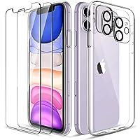 LK Cover Compatibile con iPhone 11 Custodia, 2 Pezzi Pellicola Protettiva in Vetro Temperato & 2 Pezzi Pellicola…