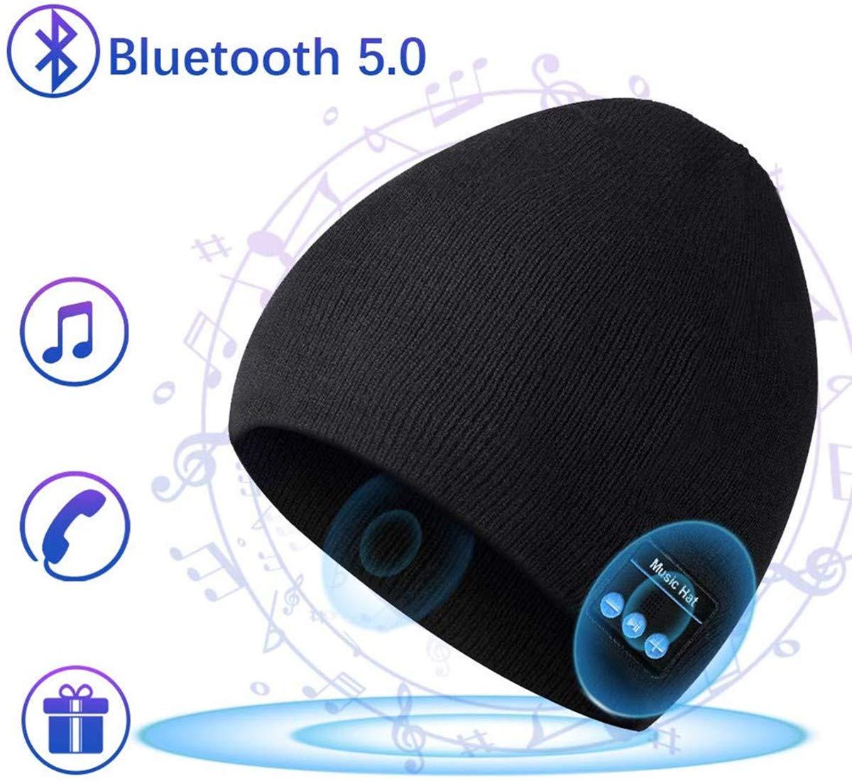 Berretto musicale Bluetooth, cappello lavorato a maglia bluetooth unisex con cuffie stereo e microfono vivavoce per… 1 spesavip