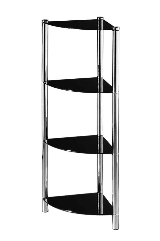 Glass Bookshelf Premier Housewares 3 Tier Shelf Unit With Black Glass Shelves And