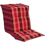 Homeoutfit24 Prato - Coussin de Chaise de Jardin, Fabrique en Europe, Confortable, Resistant aux UV, Housse Douce, 6 pièces -