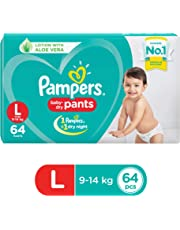 Pampers New Large Size Diapers Pants, 64 Count.