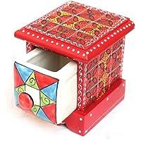 saliha art and handicrafts Assorted Ceramic Handmade Crafted Embossed Painting Small Chest Drawer Jewellery Organizer…