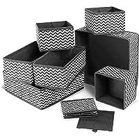 Boîte de rangement pliable pour sous-vêtements - séparateurs de tiroir - paniers en tissu pour chaussettes, soutien…