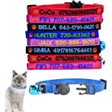 Custom Breakaway Cat collar personalized with bell (Paw logo)