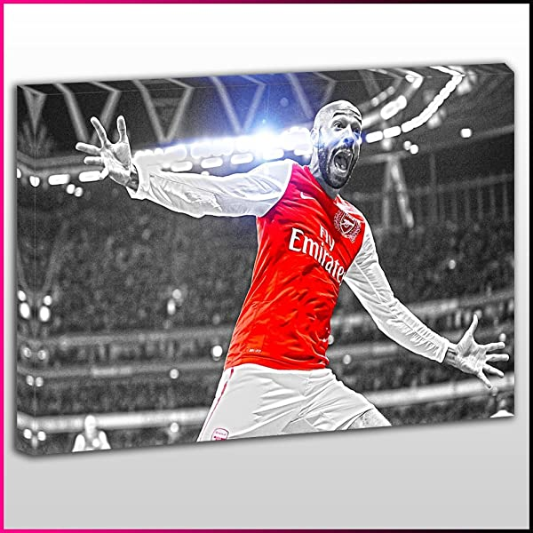Thierry Henry Football Icon Canvas Print Modern Art ~ 5 Sizes