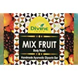 Divine India Mix Fruit Soap - Goodness Of Fruits for Healthy Glowing Skin - Herbal and Handcrafted - 125 Gm (Pack Of 3)