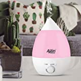 Allin Exporters Cool Mist Ultrasonic Humidifier Automatic Shut-Off and Mist Level Control Air Purifier for Home Office Bedroom Baby Room (2.4L, Pink)
