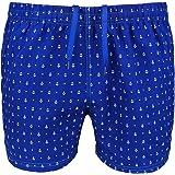 Costume da Bagno Uomo Blu Fantasia Ancore Slim Fit Pantaloncino Corto Shorts Mare