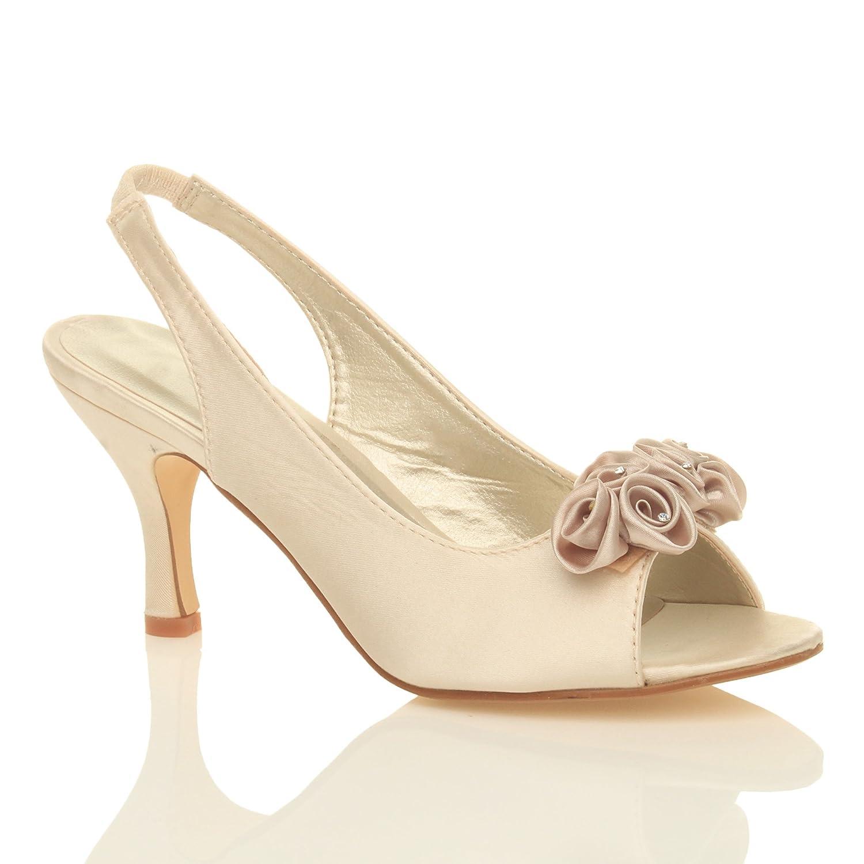 Kitten Heel Silver Wedding Shoes