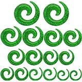 tumundo Set di 16 Pezzi / 1 Paio Stretching Dilatatori Spirale Taper Expander Piercing per Tunnel 1,6-10mm Glitter Verde