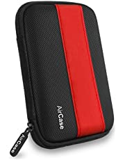 AirCase 2.5 Inch External Hard Disk Case, Cover, Pouch, HDD Case [RED-Black]