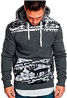 Homebaby Felpe con Cappuccio Uomo con Kangaroo Tasca, Caldo Pullover Manica Lunga Maglietta Cotone Camicette T-Shirt Yoga Calcio Sportiva Maglione Felpe Lunghe
