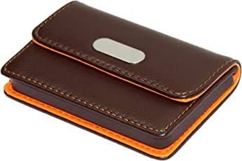 Business card holders buy business card holders online at best nisun leather pocket sized credit card holder wallet business card case coffee reheart Choice Image