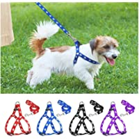 Singhal Pet Care Nylon Adjustable Printed Dog Harness for Small Dogs & Puppies (Red)