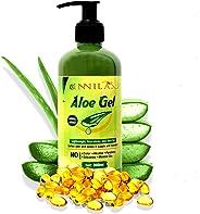 Innila Aloe Vera Gel with Vitamin E for Skin & Hair, 300 ml (Transparent- No added Colors)